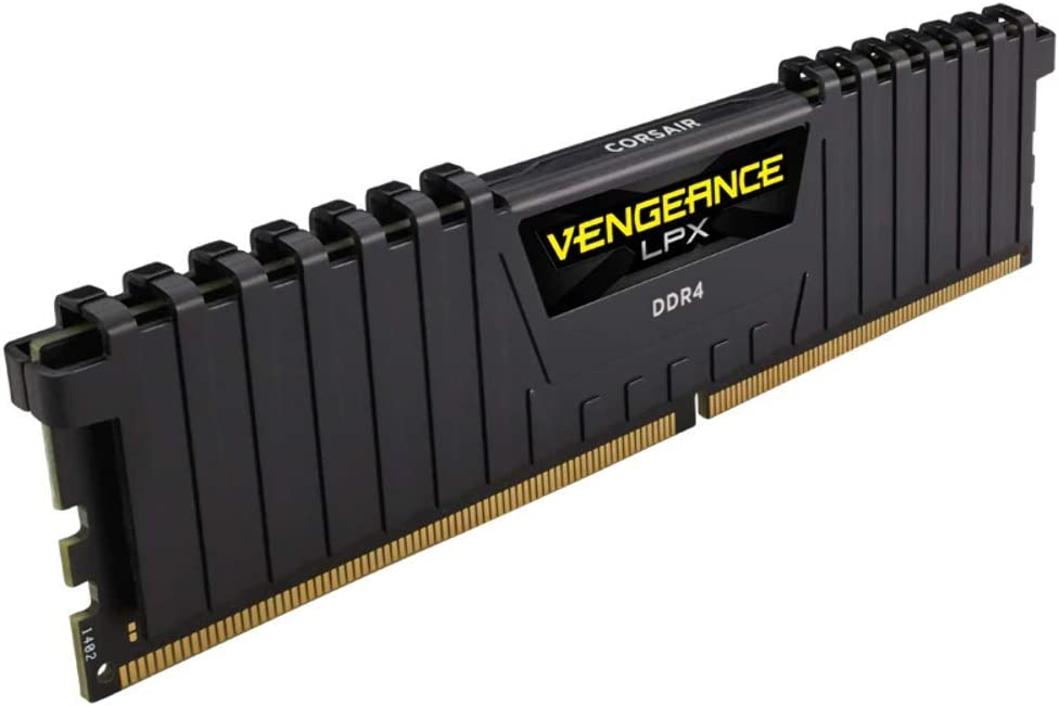 Corsair CMK8GX4M2A2400C14 Vengeance LPX 8 GB (2 x 4 GB) DDR4 2400 MHz C14 XMP 2.0 High Performance Desktop Memory Kit, Black