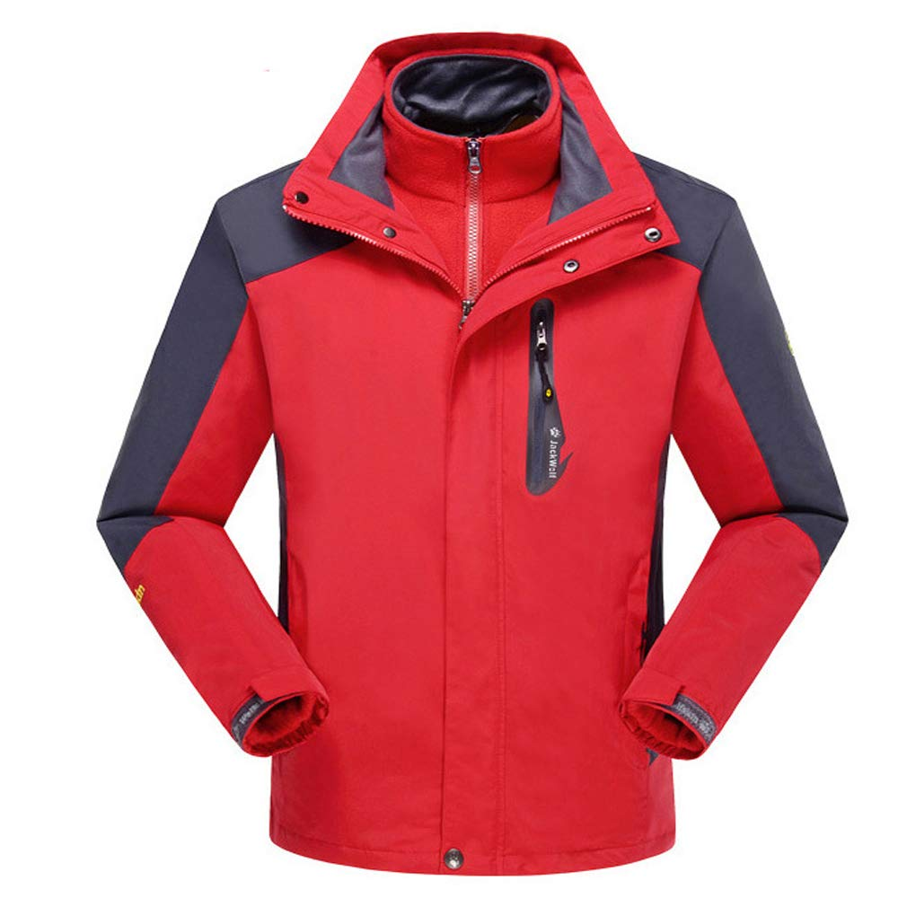 S&D Männer Frauen windundurchlässige warme Ski-Jacke, wasserdicht atmungsaktiv Dicke Isolierung Plus Samt Futter DREI-In-One Reitbekleidung