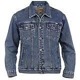 mens big kingsize denim jacket jean xl 2xl 3xl 4xl 5xl 6xl stonewash