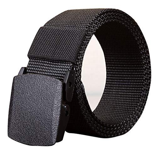 BCDshop_Belt Men's Tactical Belt,BCDshop Outdoor Sports Casual Adjustable Military Web Waistband Belts (Black, Length:43.3