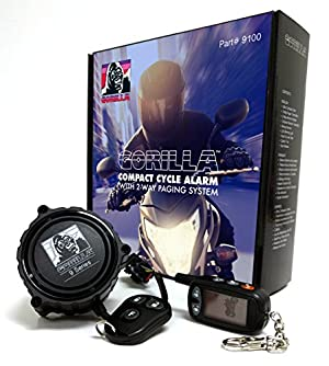 1. Gorilla Automotive 9100 Motorcycle Alarm with 2-Way Paging System
