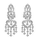 14k Gold Diamond Chandelier Earrings in