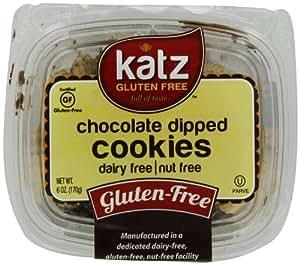 Katz Gluten Free Cookies, Chocolate Dipped, 6 Ounce