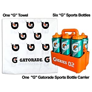 Coach's Gatorade 'G' Sports Pack = 6 G Bottles, 1 Carrier, 1 Free Gatorade G Towel