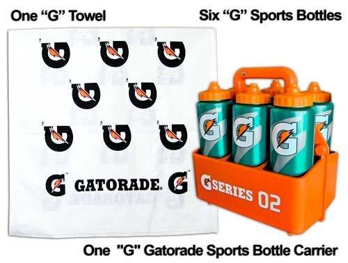 Coach's Gatorade 'G' Sports Pack = 6 G Bottles, 1 Carrier, 1 Free Gatorade G Towel by Gatorade