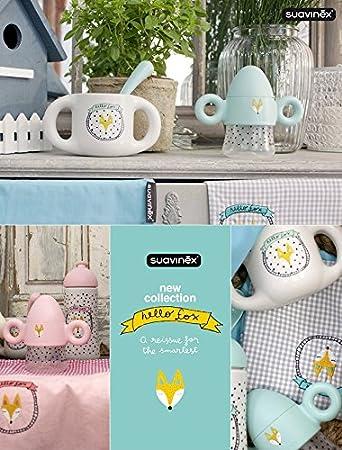 Amazon.com: Suavinex Hello Fox - Taza de bebé con dos asas ...
