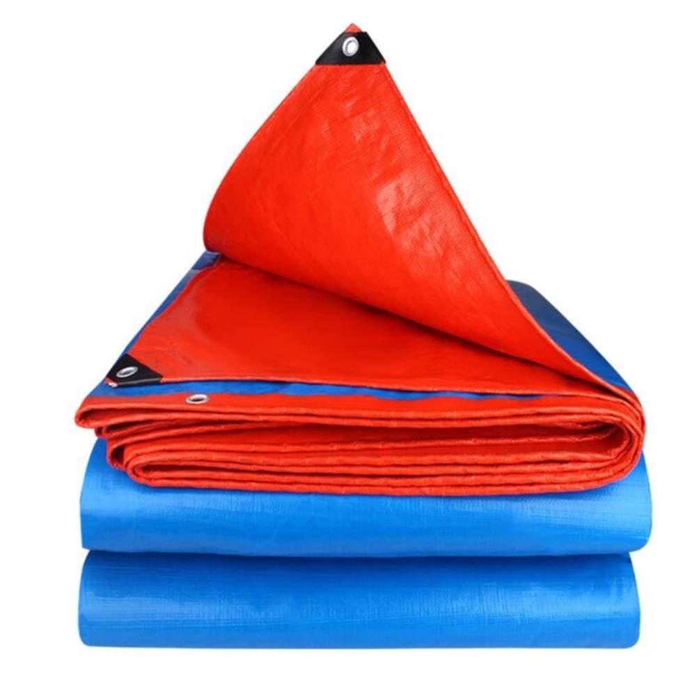 MuMa Plane Verdicken Wasserdicht Regenfest Sonnencreme Schatten Abdeckung Regen Isolierung (Farbe   Blau - Orange, größe   4  8m)