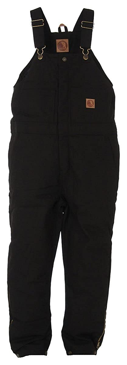 Berne Youth Washed Insulated Bib Overall Size XL Regular (Black)