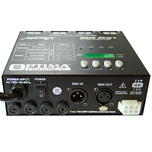 Matrix DMX Dimmer Pro+ Pack 4 Channels Double Output by Optima Lighting