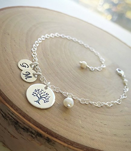 Personalized Family Tree of Life Bracelet Children's Initials Mothers Grandmothers Custom Jewelry for Her by Otis B