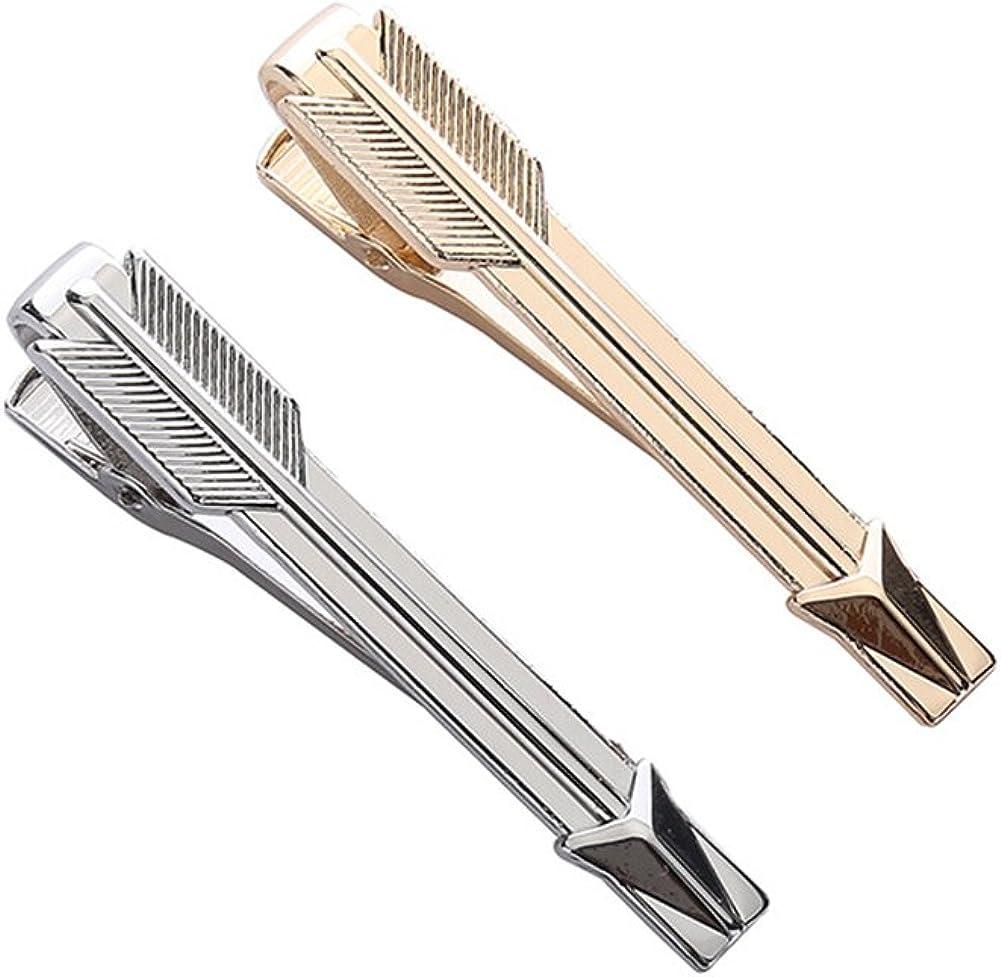 2 pcs Mens Bussiness Tie Bar Clip