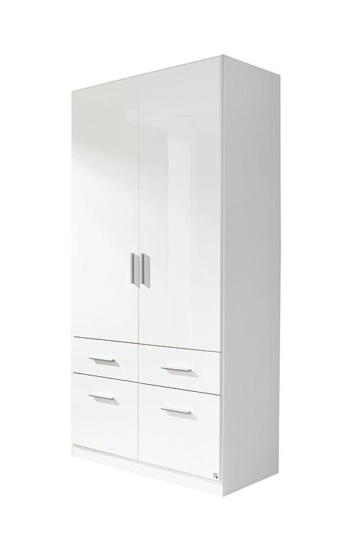 kleiderschrank wei hochglanz 2 t rig. Black Bedroom Furniture Sets. Home Design Ideas