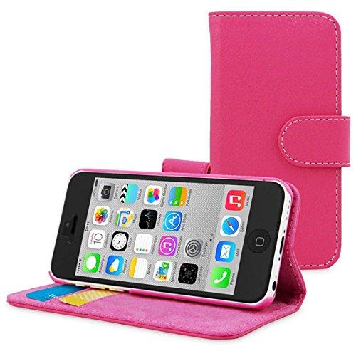 Apple Phone 8 5.1 zoll Hülle Brieftasche Leder rosa Cover mit Kartenfach - Zubehör Etui Portfolio smartphone iPhone X Edition 2017 / 2018 Case Schutzhülle (Handy Wallet tasche folio PU Leder, Pink) -