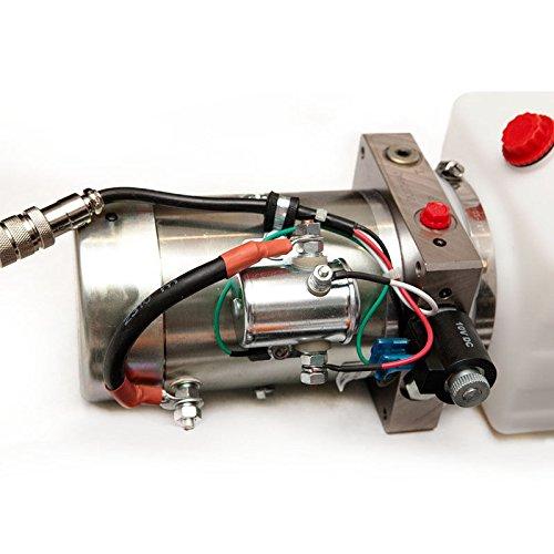 12 VDC -Dump Trailer Pump - Single-Acting Hydraulic 12 VDC - 4 Quart