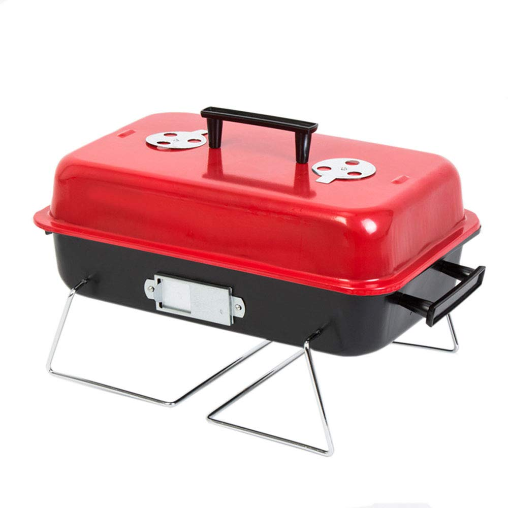 Dygzh Camping Grill Outdoor Folding Household Portable Carbon Barbecue Wild Picnic Barbecue Wood Carbon Stainless Steel Barbecue Suitable for Camping Outdoor Gardens by Dygzh