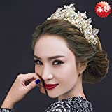 Generic Queen overseas purchase of luxury vintage bride married crown tiara Wang Guan headdress hair accessories hair bands with wedding
