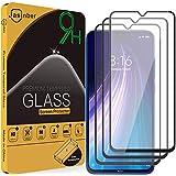 Jasinber 3 Piezas Mica Vidrio Cristal Templado Protector de Pantalla para Xiaomi Redmi Note 8 (Negro)