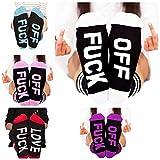#5: Socks Letter Print Fuck-off Pattern Casual Funny Sock Men Women Unisex by Fenta