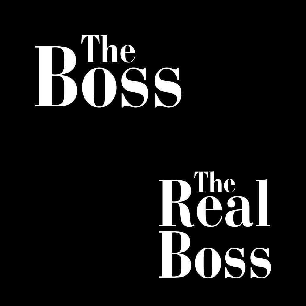 Pack de 2 Camisetas Negras para Parejas The Boss y The Real Boss Blanco
