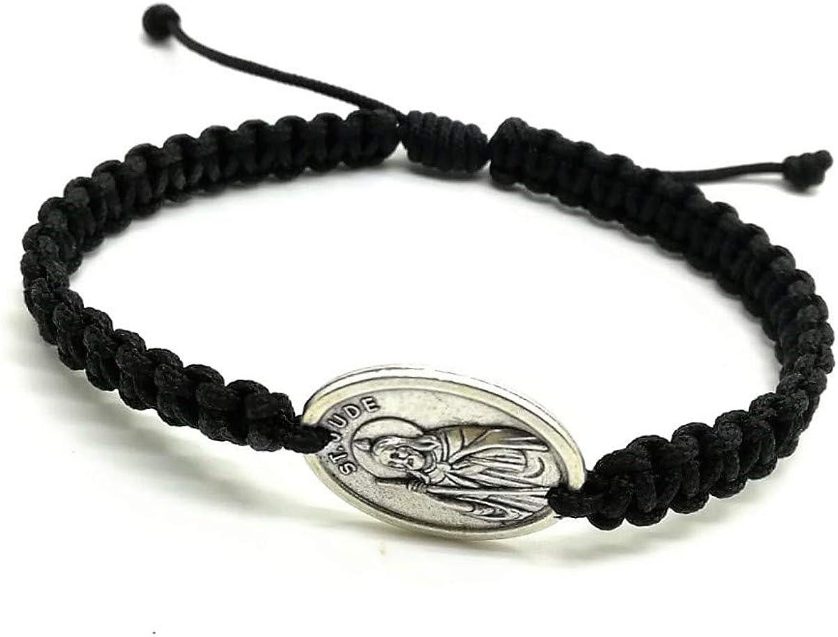 St Jude Thaddeus Adjustable Religious Bracelet San Judas Medal Catholic Bracelet