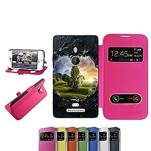 caselabdesigns Flip Carcasa Funda fuera en la oscuridad Bosque para Nokia Lumia 925Fucsia–Funda protectora plegable de rosa/fucsia