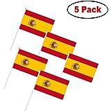 50 pequeñas banderas España con picos para Aniversario y aperitivo ...