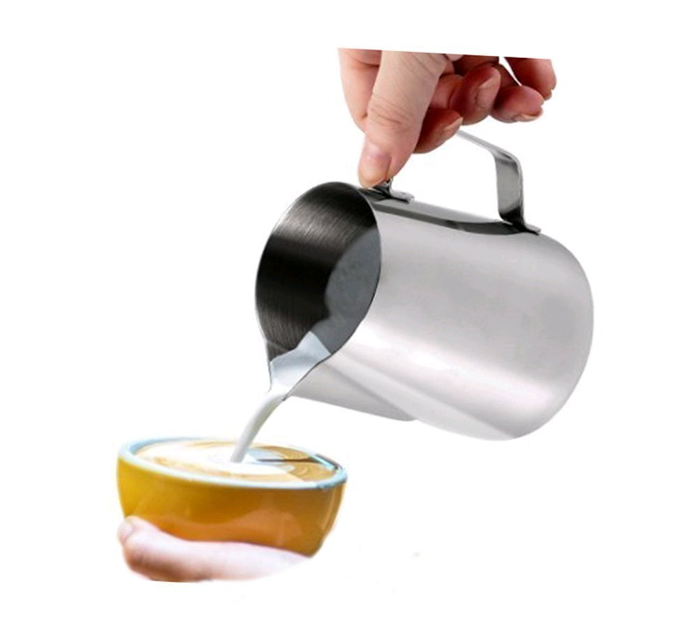 Hosaire 150ML Stainless Steel Frothing Pitcher for Fancy Milk and Coffee   B01H2YTVC4