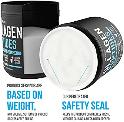 Collagen Peptides Powder (16oz) | Grass-Fed, Certified Paleo Friendly, Non-GMO and Gluten Free - Unflavored