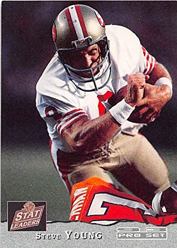 (Steve Young football card (San Francisco 49ers Hall of Fame) 1993 Pro Set #2 NFL Player of Year)