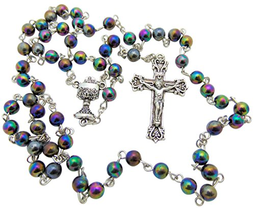 Rosary Beads For Kids - Catholic Boys Rosary, Black First Communion