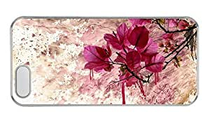Hipster iphone 5S cases customized Flower Art Paint PC Transparent for Apple iPhone 5/5S by lolosakes