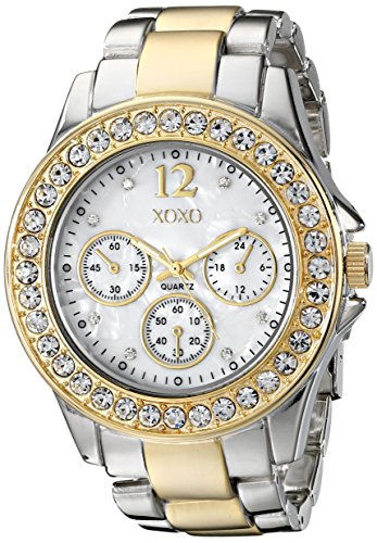 XOXO Womens XO5653 Two-Tone Bracelet Analog Watch