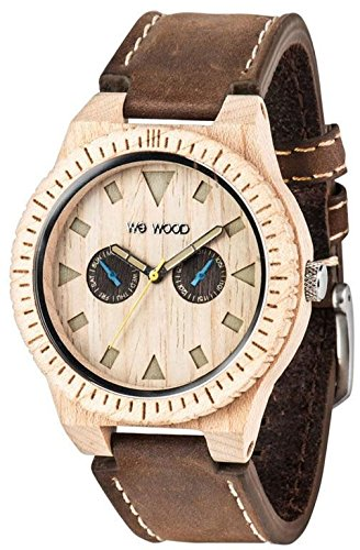 WeWood Leo Leather Beige Watch
