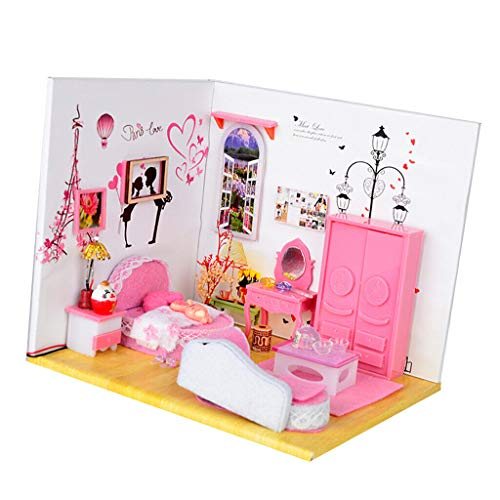 NATFUR 1:24 Scale DIY Miniature Dollhouse Doll House with Furniture and Accessories