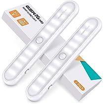 ESR7Gears Luz armario de 20 LED con sensor de movimientos, 3 modos ...