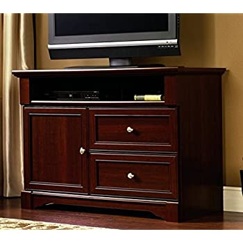 sauder palladia high boy tv stand select cherry finish