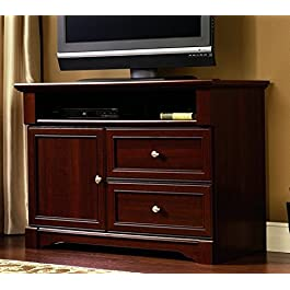 Sauder Palladia High Boy TV Stand, For Tv's up to 50″, Select Cherry finish