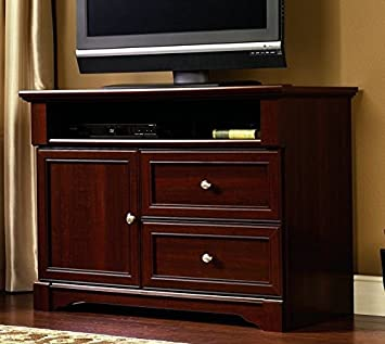 Amazon Com Sauder 411626 Palladia High Boy Tv Stand For Tv S Up To