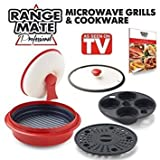 Range Mate Pro Nonstick Microwave 5-in-1 Grill Pot/Pan Cookware...