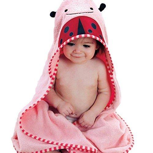 Buytra Kinder Bade-Handtuch in Tierform mit Kapuze, aus Baumwolle