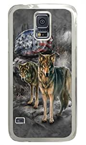 Samsung Galaxy S5 Case, Samsung Galaxy S5 Cases -Pride Rock Wolf Custom PC Hard Case Cover for Samsung S5/Samsung Galaxy S5 Transparent