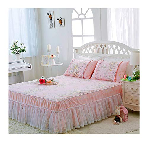 Slowly Mist Twin Full Queen King Single Double Bedskirt 100% Cotton Bed Sheet Set Kids Girls Bedding Set Bed Cover colcha de cama couvre lit,Bedskirt 5,140X200cm 3pcs