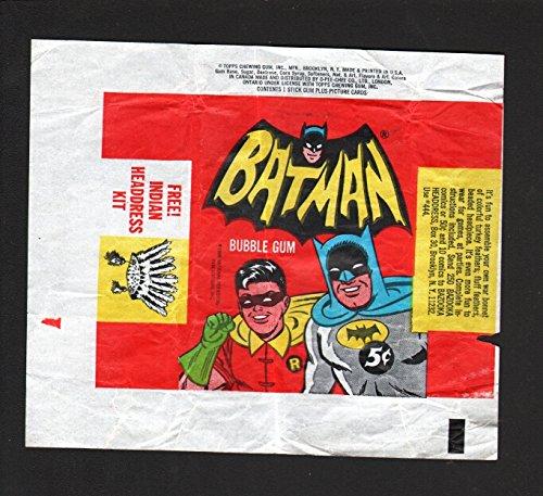 4c051a6c8ee Amazon.com  BATMAN GUM CARD WRAPER-TV SERIES-INDIAN VARIANT-1965-DC-good G   Entertainment Collectibles