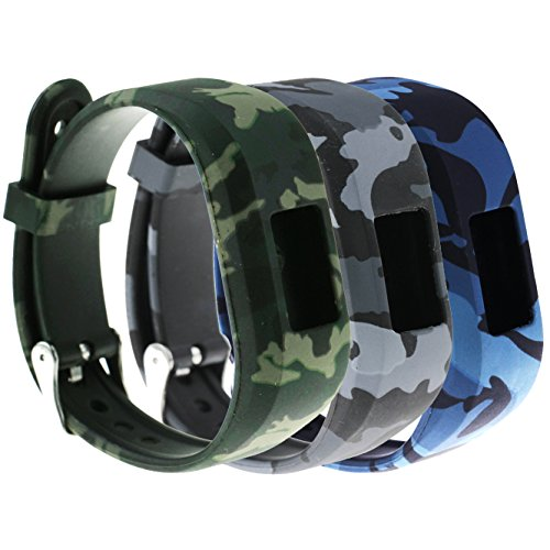 E ECSEM Large Bands for Garmin Vivofit JR/Vivofit JR.2/ Vivofit 3, Replacement Patterning Soft Silicone Wristbands Watch Straps for Garmin Vivofit JR/Vivofit JR.2/ Vivofit 3 Smartwatch, 3B