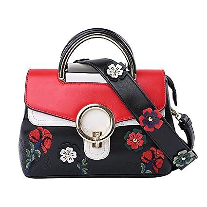 Female Shoulder Bag Fashion Hand Embankment National Wind Hit Color Package 28.5 * 18 * 9.5Cm, Green backpack
