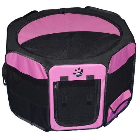 (Dog Kennels & Pens - Travel Lite Soft-Sided Pet Pen - Medium/Pink)