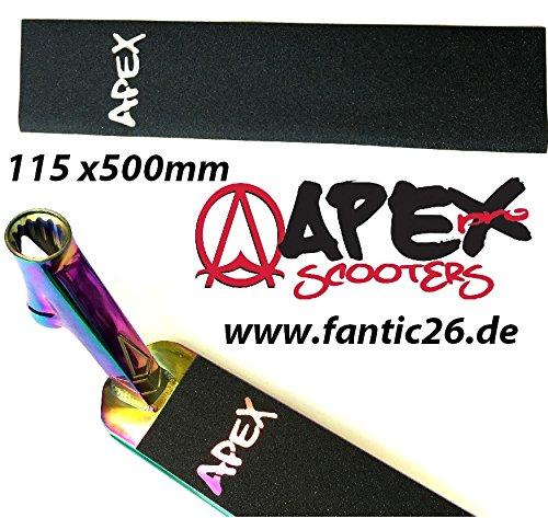 Apex Stunt-Scooter Griptape 115 x 500 Cut out Laser Logo 1576-0002