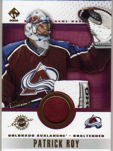 2001-02 Private Stock Game Gear Patches #30 Patrick Roy Game-Worn Jersey Patch Card - Avalanche