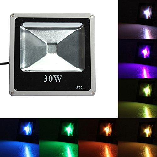 DADEQISH Proiettore da 30W ultra sottile SMD RGB Proiezione impermeabile 85-265v Illuminazione esterna