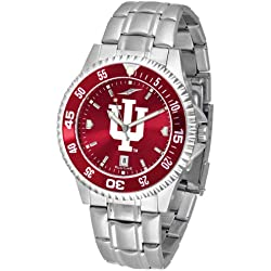 NCAA Indiana University Mens Stainless Watch COMPM-AC-INH
